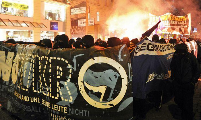 WIEN: DEMONSTRATION GEGEN DEN AKADEMIKERBALL DER FP�