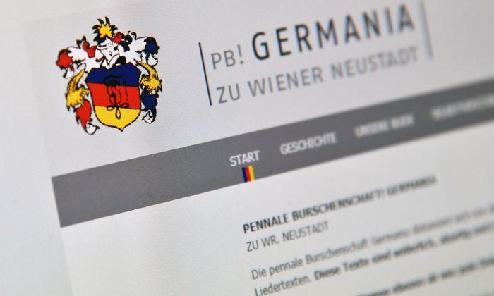 """Die umstrittene Burschenschaft """"Germania""""."""
