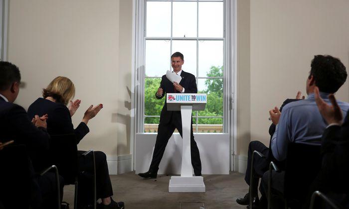 """Plädoyer für eine """"sehr kluge Position"""": Außenminister Jeremy Hunt bei seiner Präsentation als Kandidat fürs Amt des Premierministers."""
