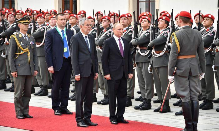 Bundespräsident Alexander Van der Bellen und Russlands Präsident Wladimir Putin im Juni 2018 in Wien.