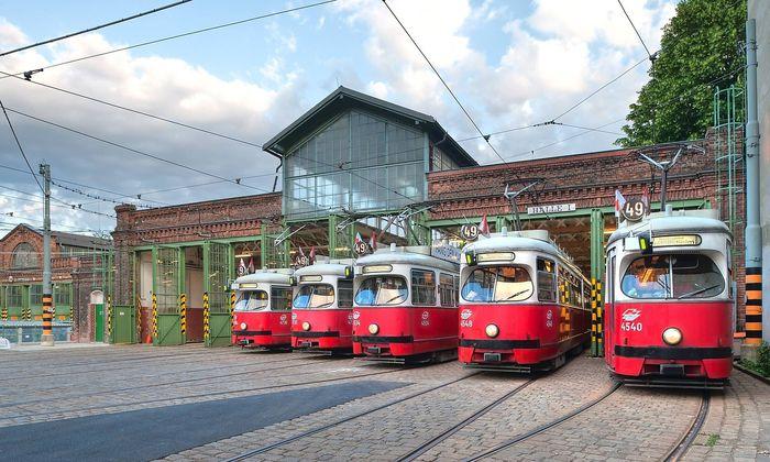 Archivbild: Die Straßenbahnremise Rudolfsheim