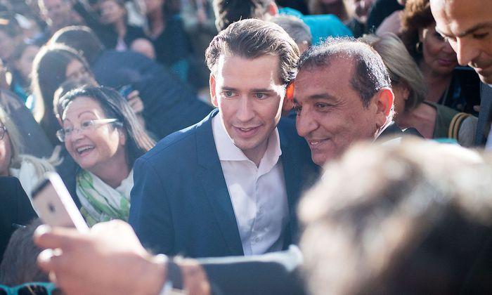 Sebastian Kurz bei einer Wahlkampfveranstaltung vergangene Woche in Baden