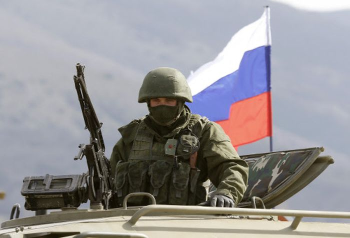 Russische Einheiten sammeln sich