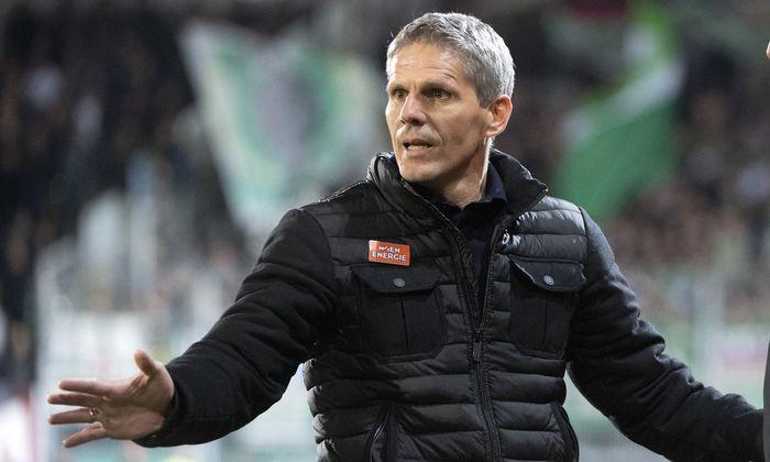 Trainer Dietmar Kühbauer (SK Rapid Wien.)