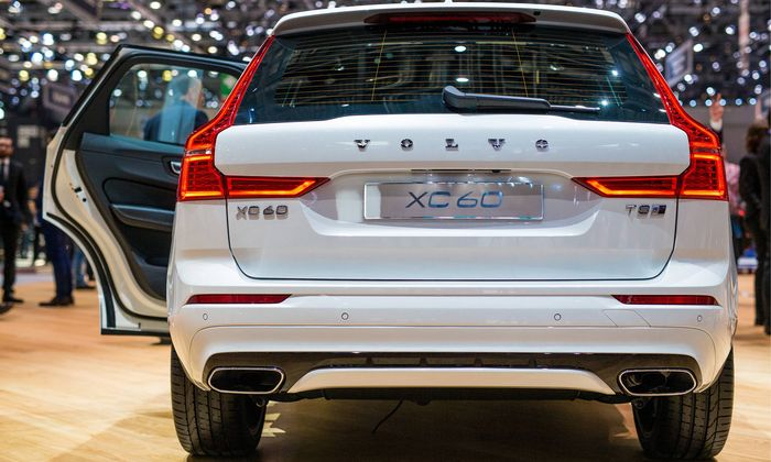 CH 87th Geneva car motor show Volvo XC60 premiered at the Motor Show in Geneva Switzerland CH on