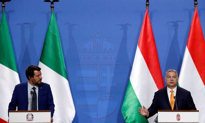 Matteo Salvini und Victor Orban in Budapest.