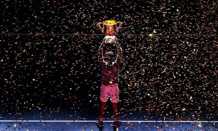 Dominic Thiem bei seinem Turniersieg in Peking.