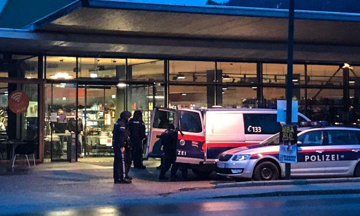 Der Tatort, ein M-Preis-Markt in Götzens