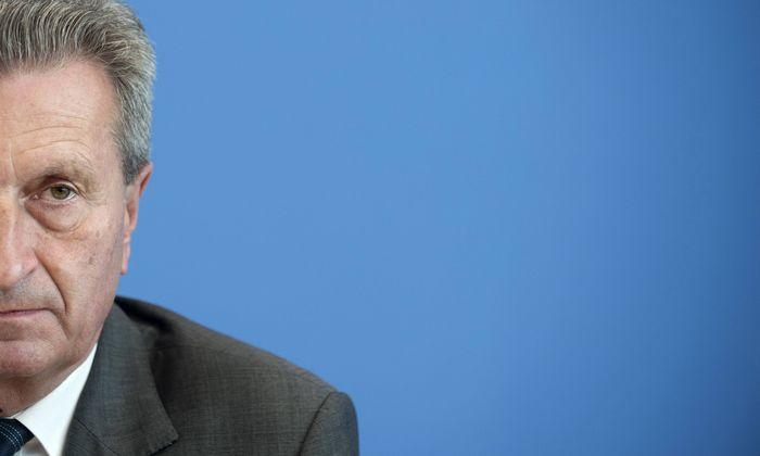 """""""Die Rechnung geht nicht auf"""": EU-Kommissar Oettinger kritisiert die deutsche Haltung zum Unionsbudget ab 2021."""