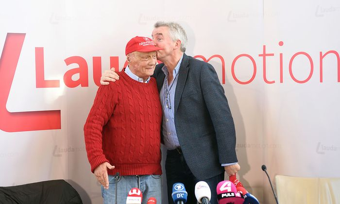 Michael O'Leary mit Lauda