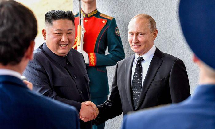 Kim Jong-un bei Wladimir Putin in Wladiwostok