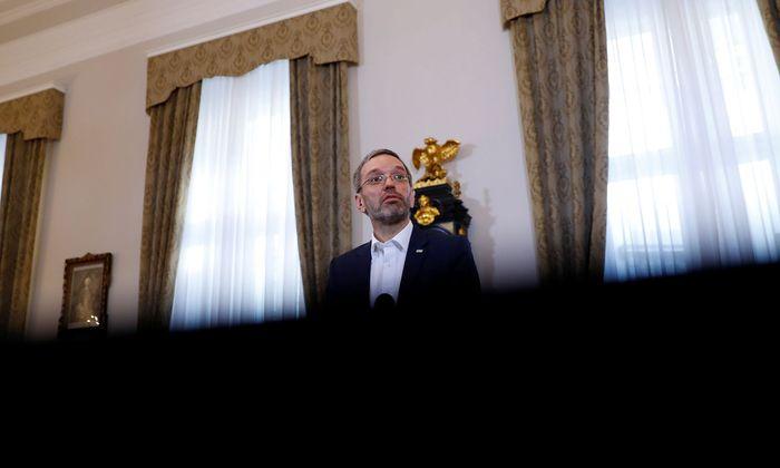 Innenminister Herbert Kickl wendet sich an Brüssel