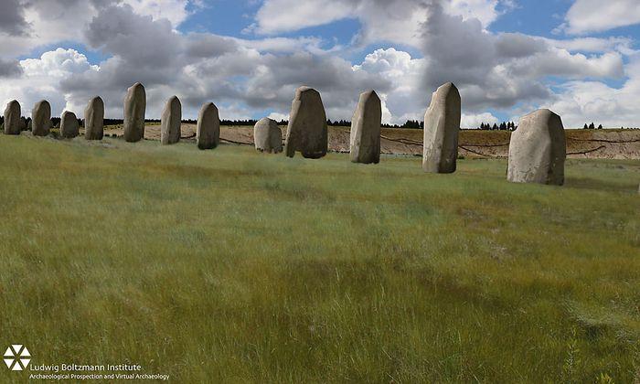 4,5 Meter sind die Steine des Sensationsfundes hoch.