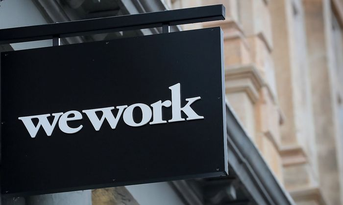 Logo von WeWork in New York City