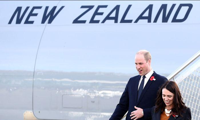 Prinz William mit Neuseelands Premierministerin Jacinda Ardern