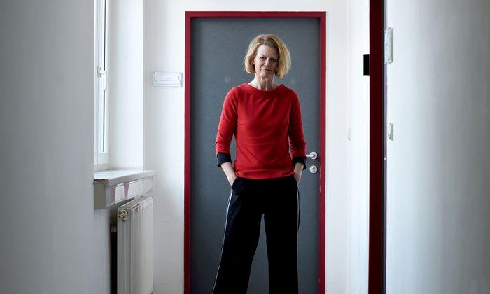 Psychologin Ulla Konrad – in einer Pause während eines Workshops über Missbrauch.