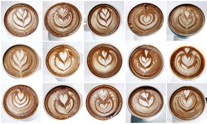 Leute, die beim Bäcker einen Kaffee bestellen
