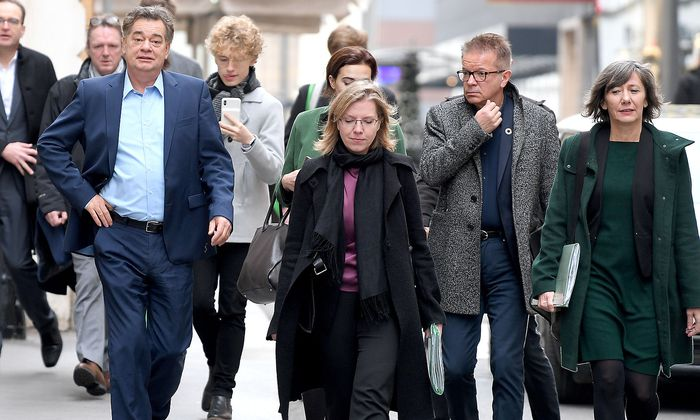 KOALITION - TREFFEN DER STEUERUNGSGRUPPEN: KOGLER / GEWESSLER / ANSCHOBER / HEBEIN