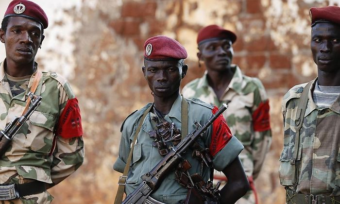 Rebellen des muslimischen Seleka-Bündnisses in Zentralafrika