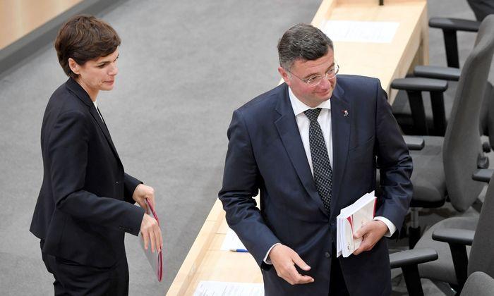 SPÖ-Chefin Pamela Rendi-Wagner und Jörg Leichtfried