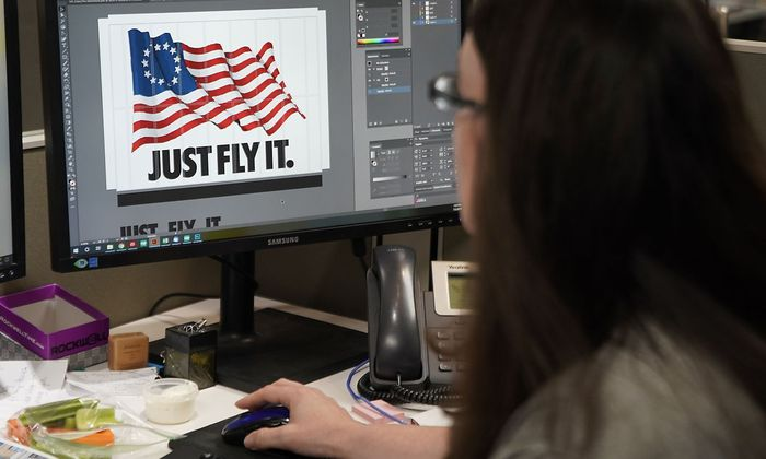 Die Betsy Ross Flag zierte einen Nike-Turnschuh.