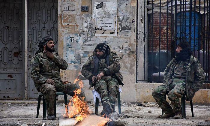 Syrische Soldaten in Aleppo.
