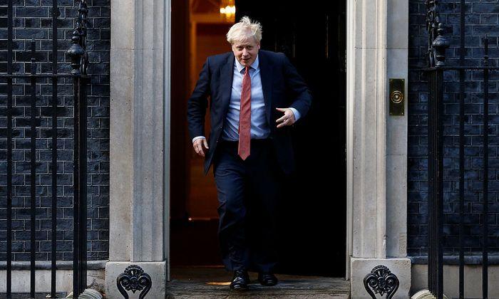 European Parliament President David Sassoli meets Britain's Prime Minister Boris Johnson in London