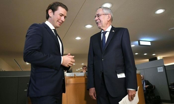 Archivbild von Kurz und Van der Bellen bei der UN-Generalversammlung in New York.