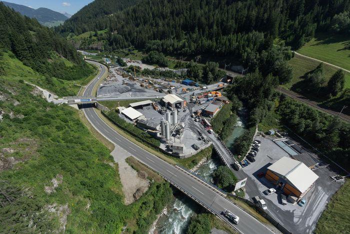 Luftbild Baustelle Wolf/Steinach am Brenner