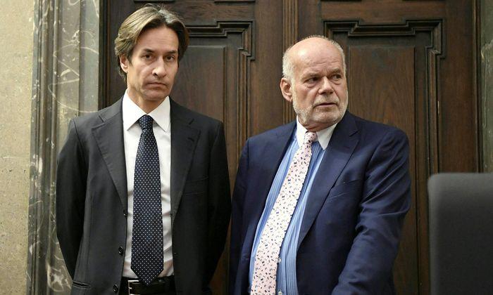Ex-Finanzminister Karl-Heinz Grasser und sein Anwalt Manfred Ainedter