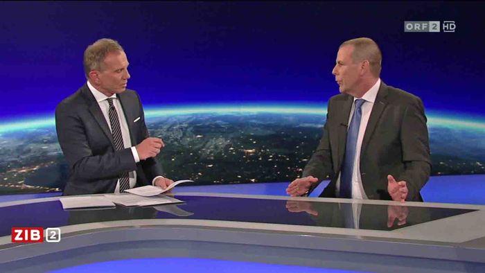 "Rücktrittsaufforderung der ÖVP an Stenzel wies er empört zurück: Harald Vilimsky war zu Gast in der ""ZiB 2""."