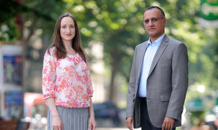 Oksana Stavrou mit Ahmad Majid.
