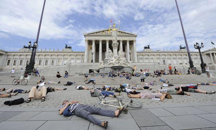 Proteste Aufstand Wiener Buerger
