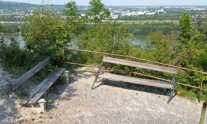 Über die Nase am Leopoldsberg bergab kann es zeitweise etwas schräg sein.