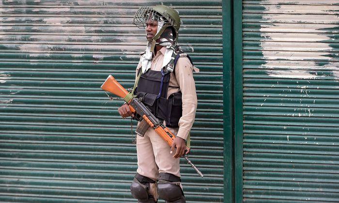 Indischer Soldat in Kaschmir
