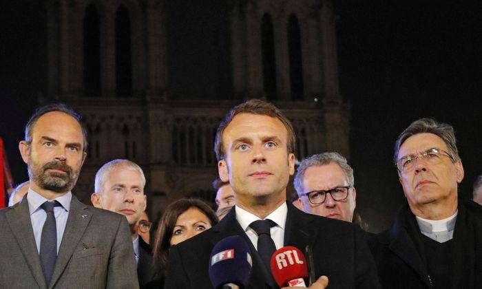Macron verspricht Notre-Dame-Wiederaufbau in von fünf Jahren