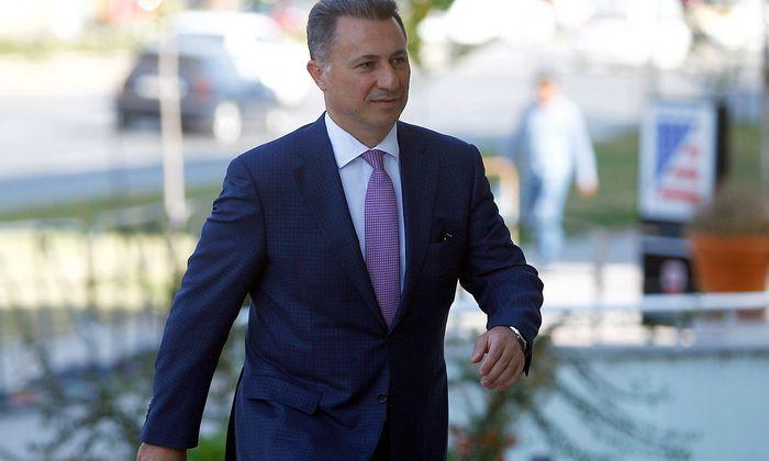 FILE PHOTO: Macedonia´s former prime minister Gruevski enters a court in Skopje