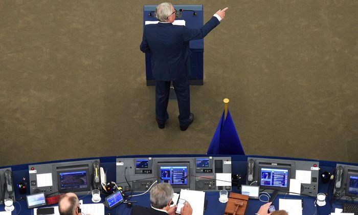 Jean-Claude Juncker bei seiner Rede.