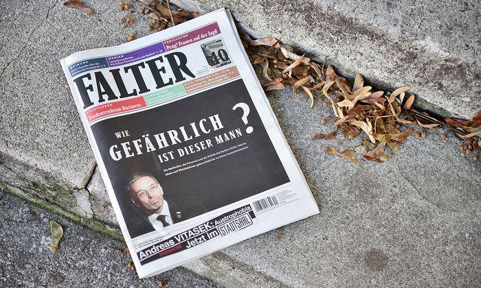 """Stein des Anstoßes: Die Titelgeschichte im aktuellen """"Falter"""" über Kickl"""