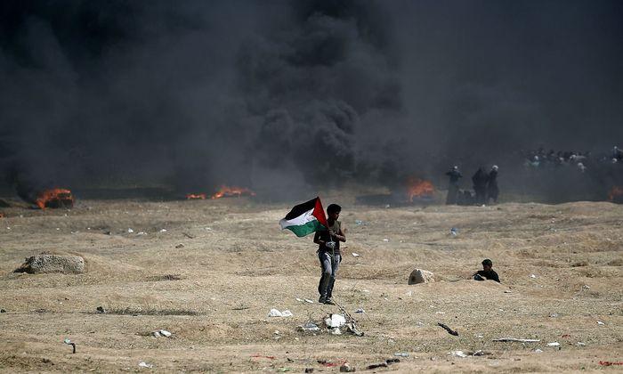 Ein Bild vom 14. Mai, an dem die Proteste an der Grenze zwischen Israel und dem Gaza-Streifen erneut eskalierte.