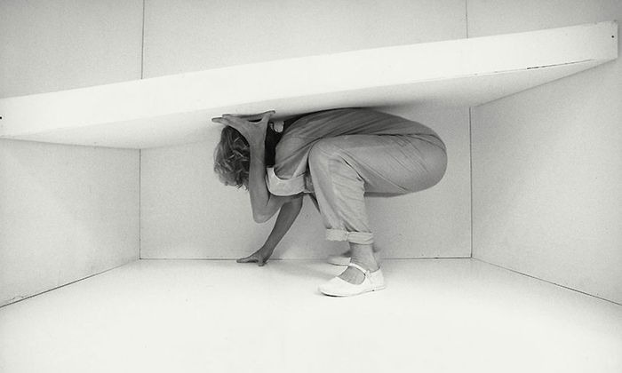 """Aus der Fotoserie """"Trotz dem"""", Margot Pilz, 1983."""