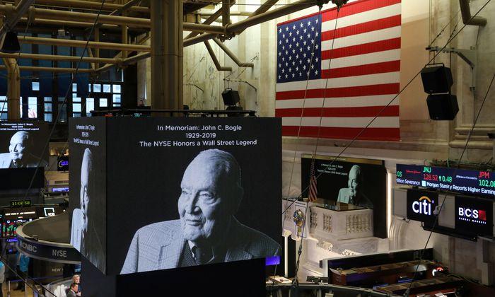 Die Wall Street gedenkt John Bogle, genannt Jack.