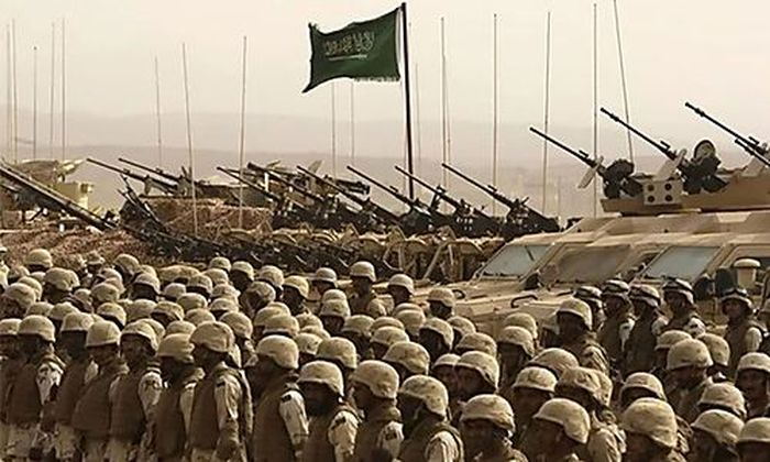 Saudische Truppen werden an der Grenze zusammengezogen