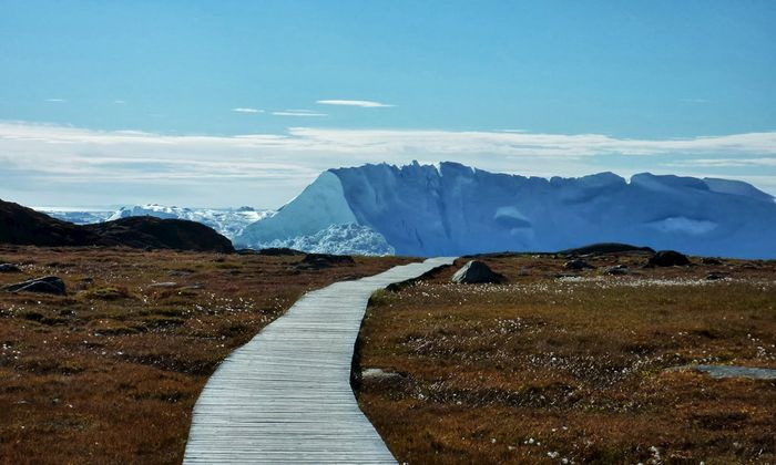 An Inuit village in Greenland is pictured in this September 2013 handout photo
