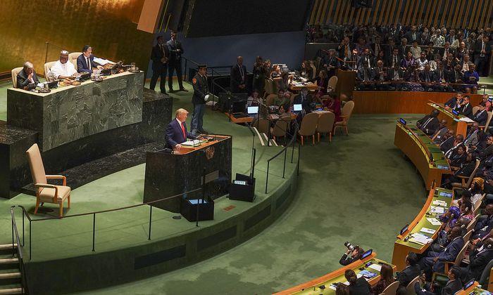Donald Trump bei der UN-Generalversammlung in New York.