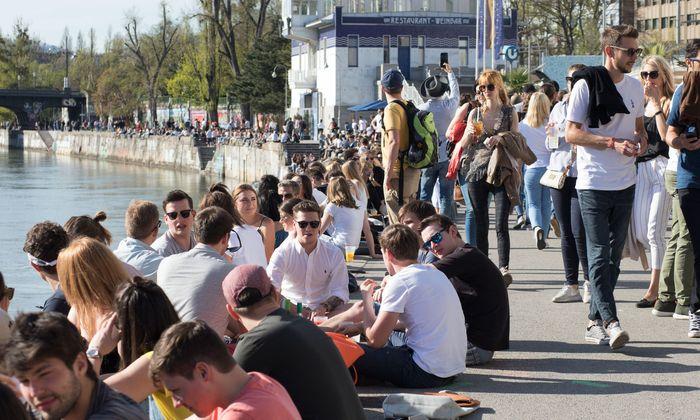 Wien hat in den vergangenen zehn, 15 Jahren in Sachen Freizeitkultur und Stadtleben ziemlich gewonnen – nicht nur, wie hier, am Donaukanal.