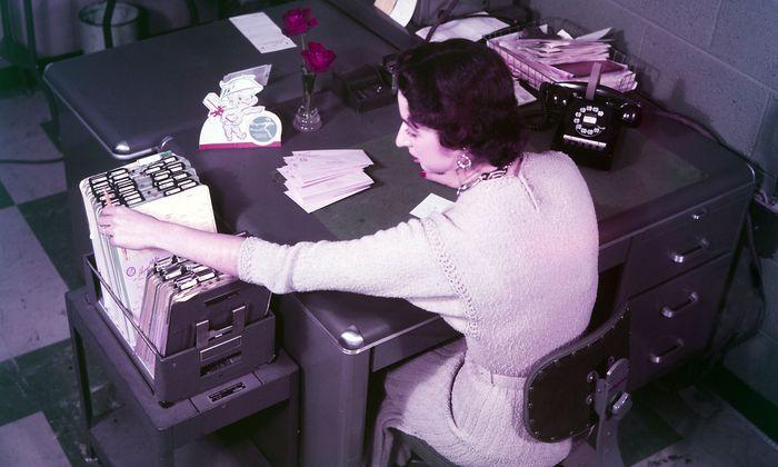 Das Amt anno dazumal: Heute geht vieles bereits auf digitalem Weg.