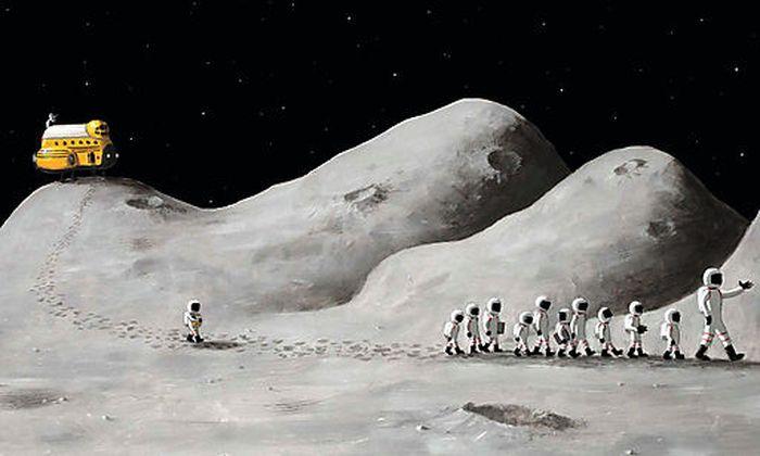 Eine Schulausflug zum Mond