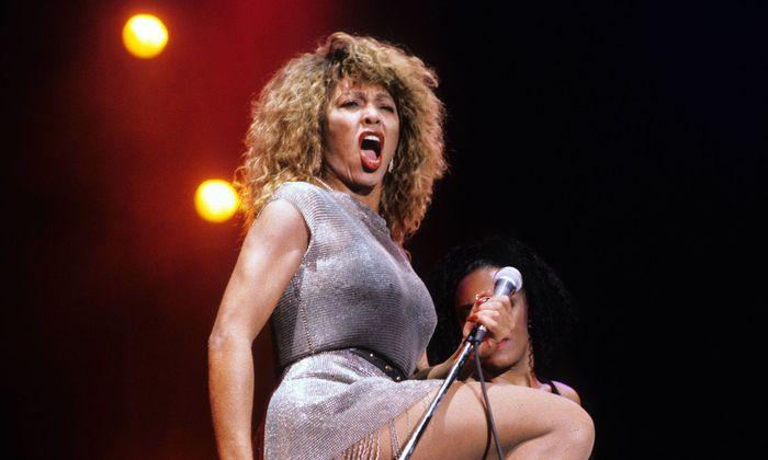 Tina Turner 1990 in Berlin.