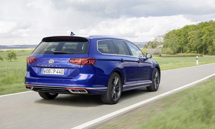 Der VW Passat, wie er leibt und lebt: Zu 80 Prozent in Fuhrparks zu Hause, meist als Kombi (Variant) und mehrheitlich mit DSG statt manuellem Getriebe; hier in der Ausstattung R-Line.
